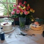 I did my sisters stork tea here! (Decor and flowers mine) but venue Divine