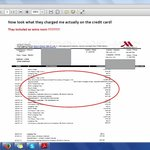 Fraud Receipt By Marriott with Wrong Charges