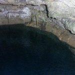 Very clear, deep water
