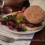 Burger with chorizo