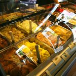 the gelato case - flavors  may change by the day - all with fresh whole ingredients