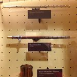 Flute and fife on display in Visitors Center museum