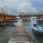 Pier to the bungalows