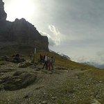 Eiger trail - No mirante com visão da parede norte do Eiger