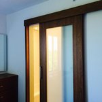 Sliding door to bathroom