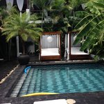 Pool and Lounging Beds