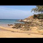 beach beside hotel
