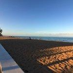 Afternoon Shadow on Beach next to Birch Patio Motel