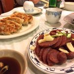 Dumplings and Chinese Sausage