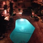 Pool/courtyard at night