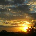 Por do sol visto do apartamento