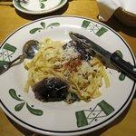 Steak Gorgonzola-Alfredo (dividido para dois).