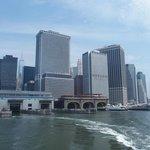 Leaving the Manhattan ferry terminal