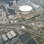 flying over the superdome