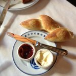 Delicious bread with sweet butter and house-made jam.