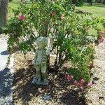 Little Cherub in The Rose Garden