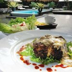 Amazing pepper crusted fillet with mushroom sauce