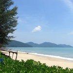 Batu Ferringhi Beach view from the hotel gardens!