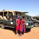 The experienced drivers for the game drive
