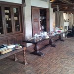 Partial view of the breakfast buffet