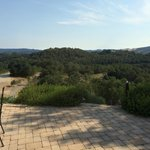 The spectacular view from the villa's terrace.
