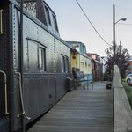 View of caboose from outside