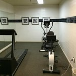 The Gym - treadmill out of order, no weights to speak of