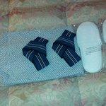 pijama y zapatillas que te ofrecen