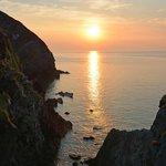 Sunset at Heddon's Mouth