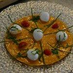 Mozzarella with fresh tomato sauce