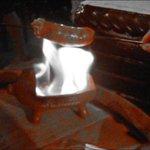 Die flambierte Chorizo