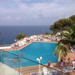 The main bottom pool area, lovely snack bars around this one and great views