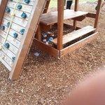 litter strewn play area