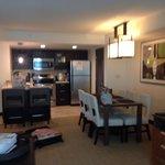 Den and kitchen one bedroom suite