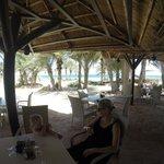 le restaurant  de la plage pour les grillades le midi, nickel.