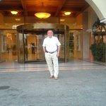 Перед входом в отель