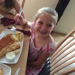 kids fish and chips! (partly eaten....)