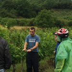 Florian describing the soil and growing of the grapes