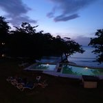 Sunset from villa balcony
