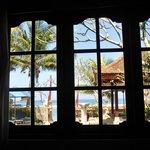 Aussicht aus dem Fenster von Bungalow 1