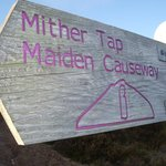 Mither Tap sign