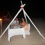 Anniversary dinner on the beach