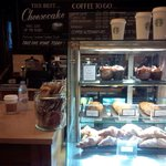 Early breakfast in Starbucks Grosvenor house