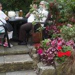 Patio area rear garden's