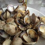 One pound of clams at Fresh Catch, with garlic
