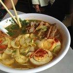 Duck-shrimp soup