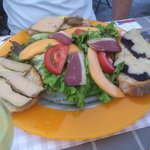 Salade magret foie gras