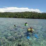 Enjoying Bunaken Snorkeling