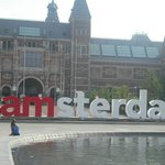 'I amsterdam' sign and Rijksmuseum.