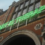 'Art is Therapy' sign on the Rijksmuseum.
